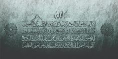 Ayat Al Kursi calligraphy for wall